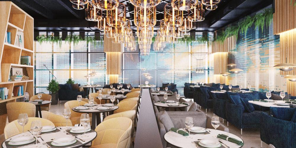 Ресторан Stereo, разработанный студией Tonko
