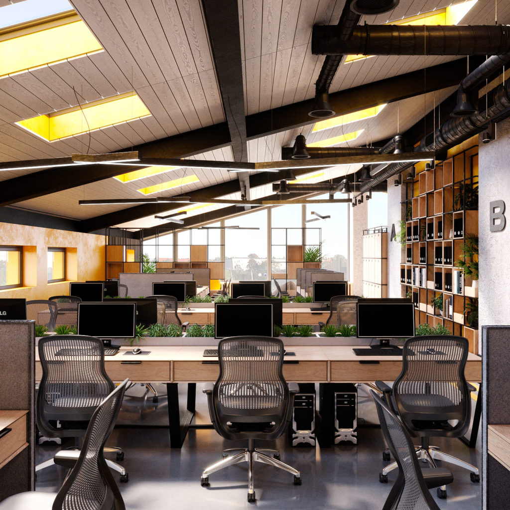 Проект интерьера Coworking центра